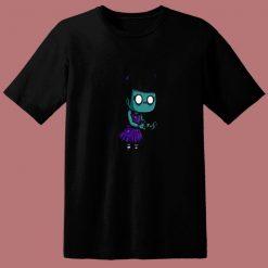 Zombie Girl Cartoon 80s T Shirt