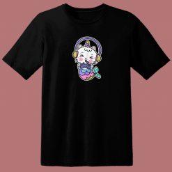 Unicat Mermaid Gamer 80s T Shirt