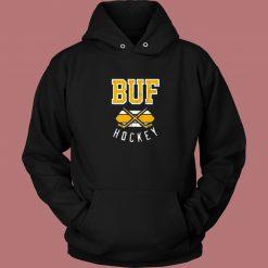Vintage Buffalo Hockey Aesthetic Hoodie Style