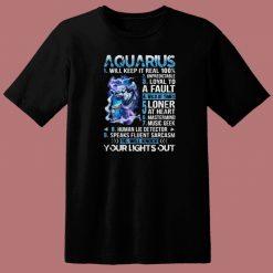 10 Things Aquarius 80s T Shirt