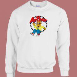 Arthur Cartoon Character 80s Sweatshirt
