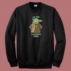 Baby Yoda Favorite Child 80s Sweatshirt