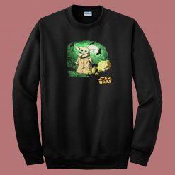 Baby Yoda Halloween Nights 80s Sweatshirt
