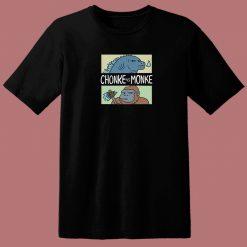 Chonke Vs Monkee Funny 80s T Shirt