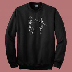 Dancing Skeletons Halloween 80s Sweatshirt