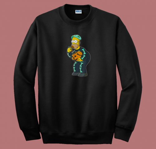Homer Simpson Funny Candy Feast 80s Sweatshirt