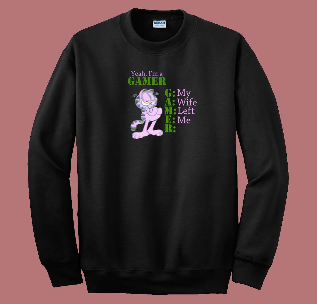 Im A Gamer Garfield 80s Sweatshirt