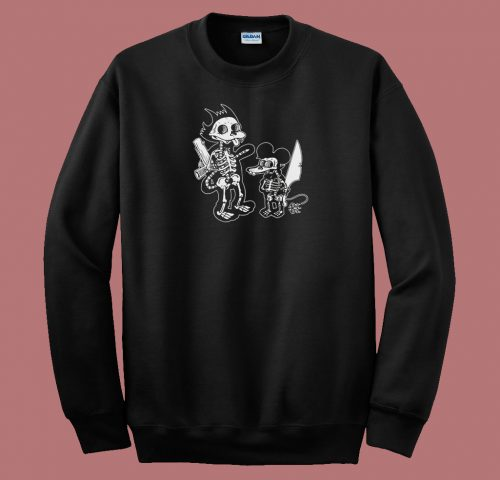 Itchy Scratchy Double Sided 80s Sweatshirt