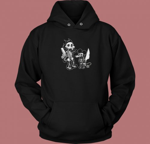 Itchy Scratchy Double Sided Hoodie Style