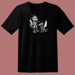 Itchy Scratchy Double Sided 80s T Shirt