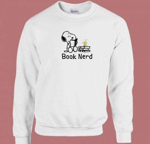 Snoopy Books Lover 80s Sweatshirt