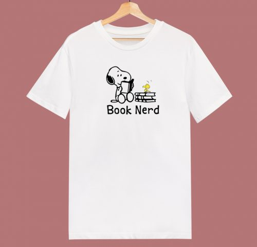Snoopy Books Lover 80s T Shirt