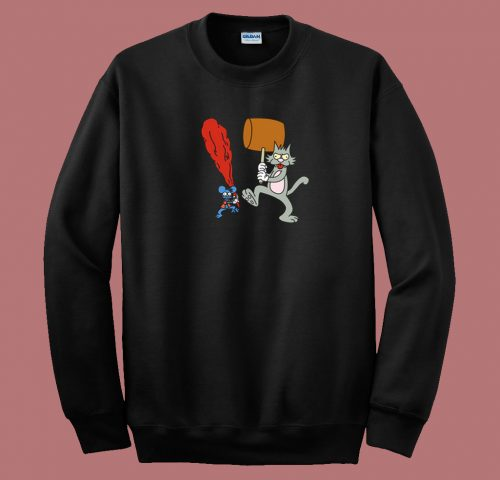 The Itchy And Scratchy Show 80s Sweatshirt