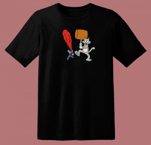The Itchy And Scratchy Show 80s T Shirt
