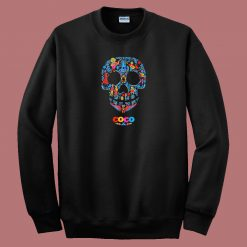 Coco Skull Pattern 80s Sweatshirt