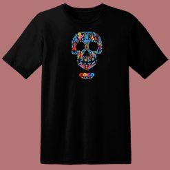 Coco Skull Pattern 80s T Shirt