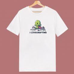 Cthulhu I Love Crafting 80s T Shirt