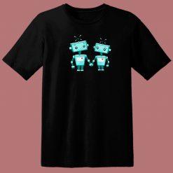 Cute Robot 80s T Shirt