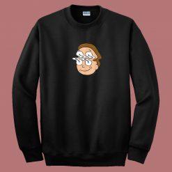Morty Waves Funny 80s Sweatshirt