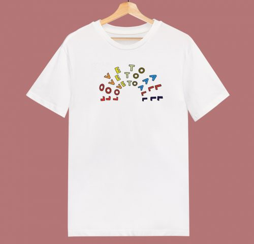 Nice Love To All Pride 80s T Shirt